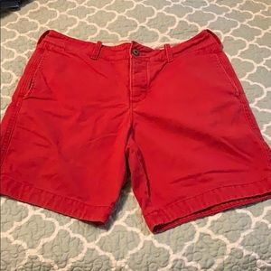 Hollister red shorts